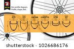 wide rims  with a braking... | Shutterstock .eps vector #1026686176