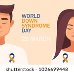world down syndrome day card 21 ... | Shutterstock .eps vector #1026699448