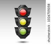 traffic light. vector... | Shutterstock .eps vector #1026705058