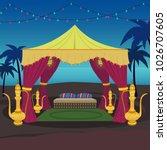 arabian night tent   Shutterstock .eps vector #1026707605
