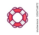 life buoy ring  vector icon... | Shutterstock .eps vector #1026716872