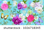spring seamless pattern with...   Shutterstock .eps vector #1026718345