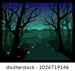 fireflies in the forest | Shutterstock . vector #1026719146