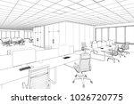 3d illustration. drawing office | Shutterstock . vector #1026720775