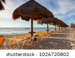 on the playa paraiso at... | Shutterstock . vector #1026720802