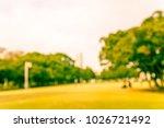 abstract blur green city park... | Shutterstock . vector #1026721492