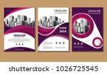 design cover book brochure... | Shutterstock .eps vector #1026725545