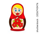 matryoshka doll dressed in a... | Shutterstock .eps vector #1026743476