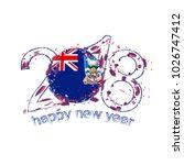 2018 happy new year falkland... | Shutterstock . vector #1026747412