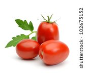 san marzano plum tomatoes with... | Shutterstock . vector #102675152