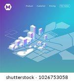 gps online map navigation.... | Shutterstock .eps vector #1026753058