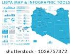 libya map   detailed info... | Shutterstock .eps vector #1026757372