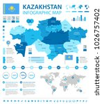 kazakhstan infographic map and... | Shutterstock .eps vector #1026757402