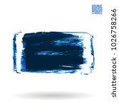 blue brush stroke and texture....   Shutterstock .eps vector #1026758266