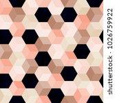 hexagon grid seamless vector... | Shutterstock .eps vector #1026759922