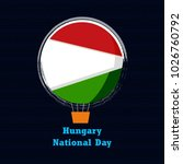 hungary national day with nice... | Shutterstock .eps vector #1026760792