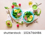 healthy detox dish with avocado ... | Shutterstock . vector #1026766486