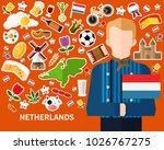 netherlands concept background .... | Shutterstock .eps vector #1026767275