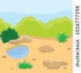 sandy terrain with rare... | Shutterstock .eps vector #1026777358
