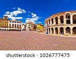 roman amphitheatre arena di...   Shutterstock . vector #1026777475