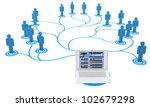 3d illustration  job search... | Shutterstock . vector #102679298