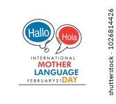 mother language day vector... | Shutterstock .eps vector #1026814426