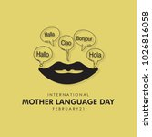 mother language day vector... | Shutterstock .eps vector #1026816058