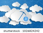illustration of crypto currency ... | Shutterstock . vector #1026824242