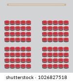 top view show seat in the... | Shutterstock .eps vector #1026827518