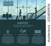 airport passenger terminal and...   Shutterstock .eps vector #1026830926