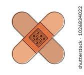 bandages crossed symbol | Shutterstock .eps vector #1026834022