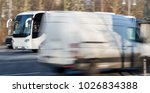 passenger bus speeding | Shutterstock . vector #1026834388