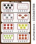 worksheet for preschool... | Shutterstock .eps vector #1026865588