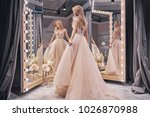 beautiful dress.  full length... | Shutterstock . vector #1026870988