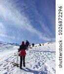 reaching to goals   Shutterstock . vector #1026872296