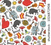 vector seamless pattern with... | Shutterstock .eps vector #1026872908