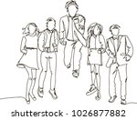 ontinuous line drawing of... | Shutterstock .eps vector #1026877882