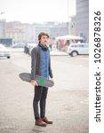 young handsome caucasian man... | Shutterstock . vector #1026878326