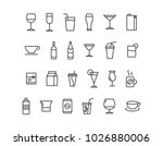 simple set of alcohol related ... | Shutterstock .eps vector #1026880006