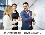 business meeting at office.... | Shutterstock . vector #1026886042