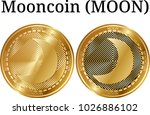 set of physical golden coin...   Shutterstock .eps vector #1026886102