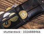 bitcoins  litecoin and...   Shutterstock . vector #1026888466