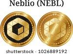 set of physical golden coin... | Shutterstock .eps vector #1026889192