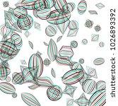 falling geometric figures.... | Shutterstock .eps vector #1026893392
