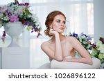 portrait of a beautiful girl in ...   Shutterstock . vector #1026896122