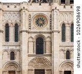 the basilica of saint denis ... | Shutterstock . vector #1026908698