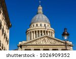 the pantheon is a building in... | Shutterstock . vector #1026909352