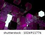 3d render abstract background.  ...   Shutterstock . vector #1026911776
