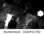 3d render abstract background.  ...   Shutterstock . vector #1026911782