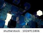 3d render abstract background.  ...   Shutterstock . vector #1026911806